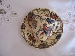 Antik Cauldon /angol fajansz/ kávéscsésze alátéttel