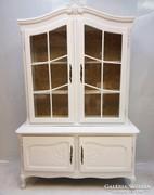Fehér Vitrines barokk tálaló szekrény