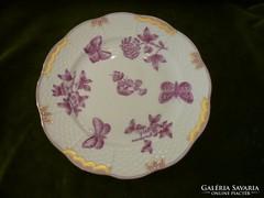 Viktória pink herendi sütis tányér
