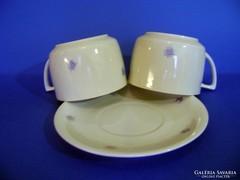 Zsolnay 2 db-os teáscsésze 1 db tányér