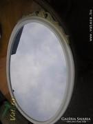 Neobarokk, chippendale nagy méretű ovális tükör 90x60