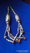 Artdeco csontból és karneolból készült nyaklánc