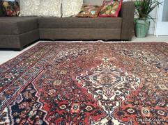 Antik Iráni kézicsomózású hibátlan szőnyeg