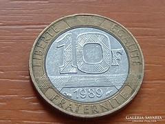 FRANCIA 10 FRANK FRANCS 1989 BIMETÁL