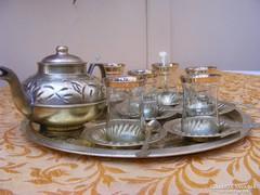 Álomszép Török sárgaréz 20 részes antik kávés készlet