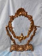 Bronz,puttós tükörkeret vagy fotókeret.Gyönyörű darab.36cm