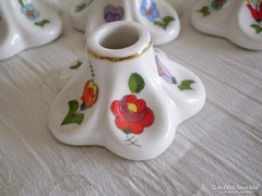 Kézzel festett Kalocsai porcelán gyertyatartó 1 szálas