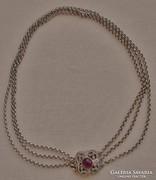 Szépséges antik rubinköves collier/nyakék