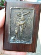 Antik hordozható házi oltár - Jézus levétele a keresztről -