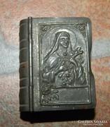Antik biblia alakú kegytárgy - rózsafüzér tartó olvasóval