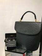 Struccbőr fekete luxus bőr táska