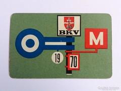 1970 BKV kártyanaptár