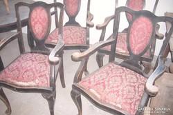 4-darab Angol barokk karszékek