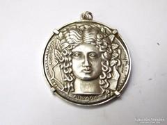 Ezüst medál ókori érme mintájára,,,