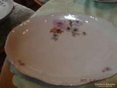 Csodaszép régi zsolnay  ovális tányér ritka rózsa