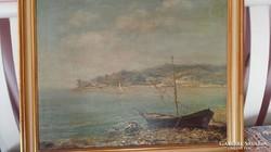 Szignózott olajfestmény XIX.század vége
