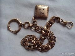 Csodás régi Zsebóra lánc,fénykép tartoval