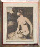 Vadász Endre: Akt (Renoir után),1930-as évek