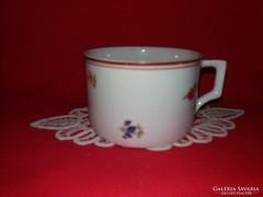 Antik Zsolnay pajzsos virág mintás porcelán bögre 3