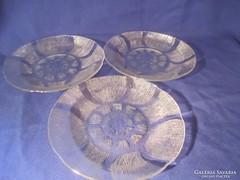 3 db üveg süteményes tányér Ft / db A066