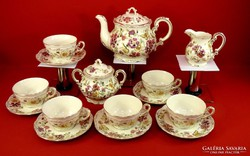 Zsolnay teáskészlet pillangós 6 személyes. Gyönyörű és új