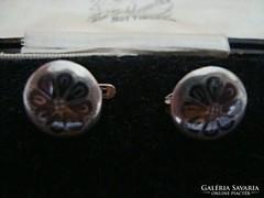 Antik niellós ezüst orosz fülbevaló