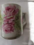 Zsolnay  bögre, rózsás