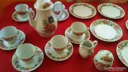 23 részes gyönyörű teás,kávéskészlet!