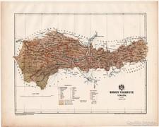 Kolozs vármegye térkép 1899, Magyarország atlasz (a), megye
