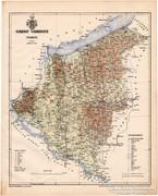 Somogy vármegye térkép 1899, Magyarország atlasz (a), megye