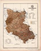 Szepes vármegye térkép 1899, Magyarország atlasz (a), megye