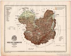 Szilágy vármegye térkép 1899, Magyarország atlasz (a), megye