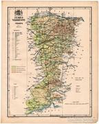 Temes vármegye térkép 1899, Magyarország atlasz (a), megye