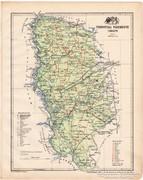 Torontál vármegye térkép 1899, Magyarország atlasz (a)