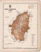 Turóc vármegye térkép 1899, Magyarország atlasz (a), megye