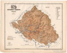 Udvarhely vármegye térkép 1899, Magyarország atlasz (a)