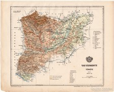 Vas vármegye térkép 1899, Magyarország atlasz (a), megye