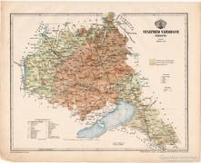 Veszprém vármegye térkép 1899, Magyarország atlasz (a)