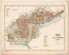 Zala vármegye térkép 1899, Magyarország atlasz (a), megye