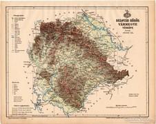 Belovár - Körös vármegye térkép 1899, Magyarország atlasz