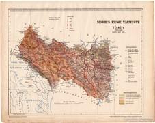 Modrus - Fiume vármegye térkép 1899, Magyarország atlasz (a)