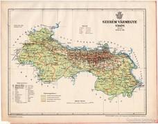 Szerém vármegye térkép 1899, Magyarország atlasz (a), megye