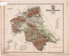 Zágráb vármegye térkép 1899, Magyarország atlasz (a), megye