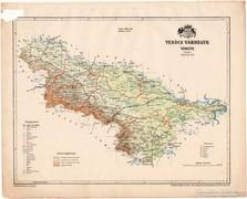 Verőce vármegye térkép 1899, Magyarország atlasz (a), megye