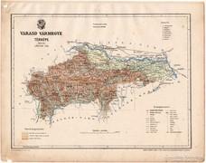 Varasd vármegye térkép 1899, Magyarország atlasz (a), megye
