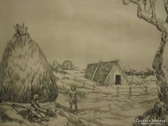 Olv. jelz. (20.sz.2.fele) : Őskori falvak és házak