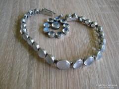 Antik ezüst ékszer szett holdkővel( medál+ karkötő)