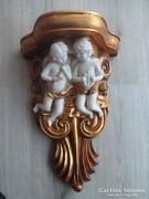 Barokk angyalkás fali konzol45x29x16cm