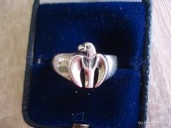 Sas figurás ezüst gyűrű