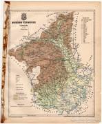 Borsod vármegye térkép 1899, Magyarország atlasz (a), megye